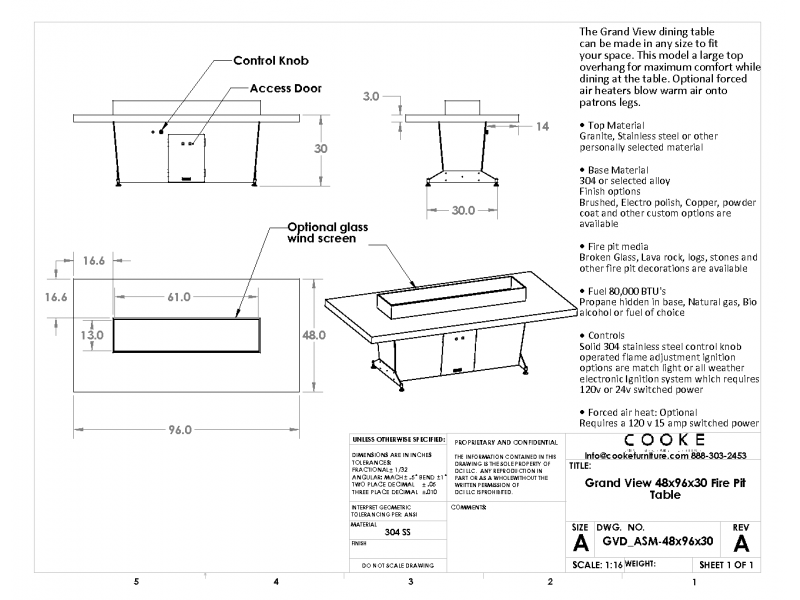 Grand View Specification Sheet 48x96x30