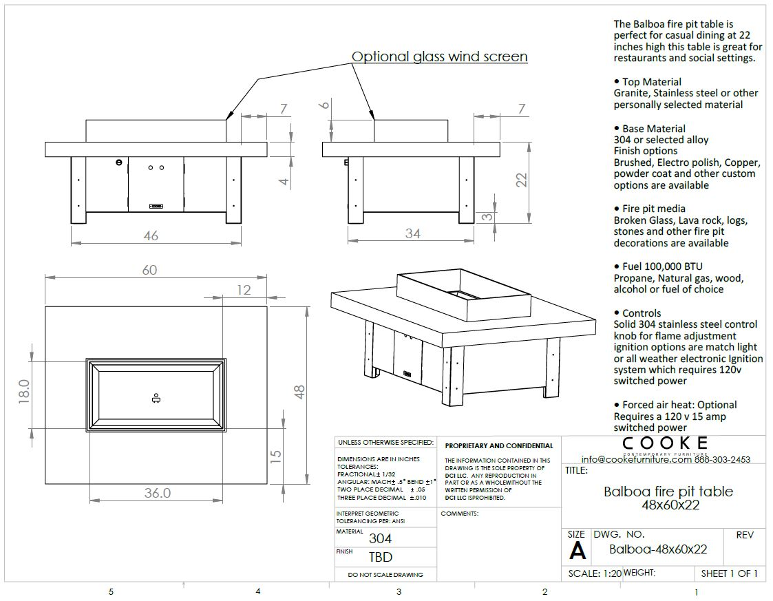 Balboa 48x60x21 Product Specifications