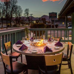 Bishop Fire Table For Restaurant Dining Cooke Furniture