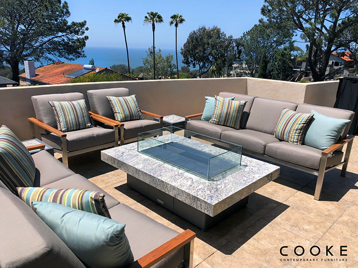 Terrific Custom Outdoor Fire Pit Tables California Cooke Furniture Download Free Architecture Designs Grimeyleaguecom