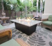 COOKE Newport Rectangular Fire Pit Table - simple, elegant, and durable.