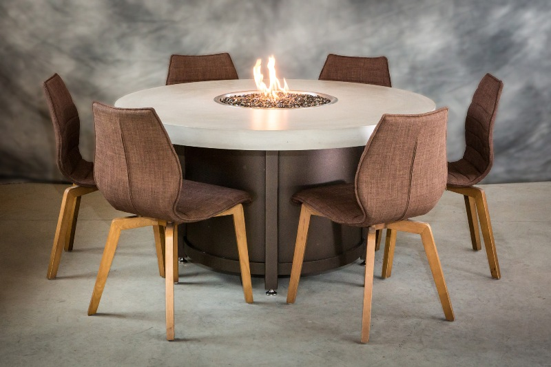 Colorado Dining height fire pit table
