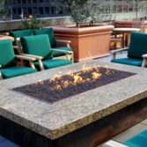Custom fire pit, burner, and table tops available.