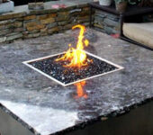 Newport fire pit table