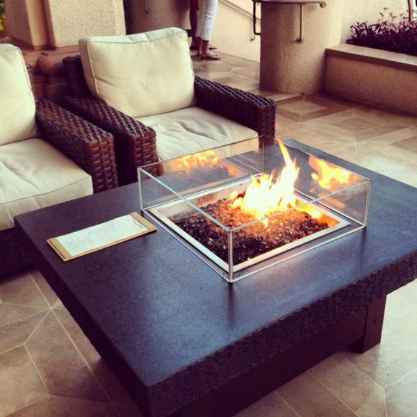 Balboa Fire Pit Table at Four Seasons Lanai