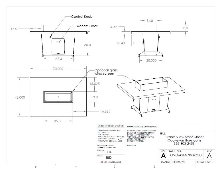 Grand View Specification Sheet 70x48x30