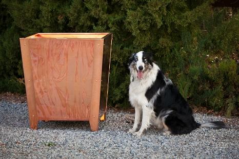Larg copper planter box
