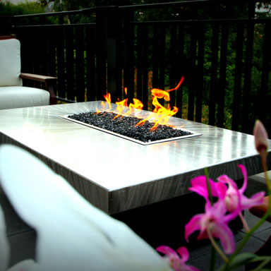 Custom Montecito Fire Pit Table