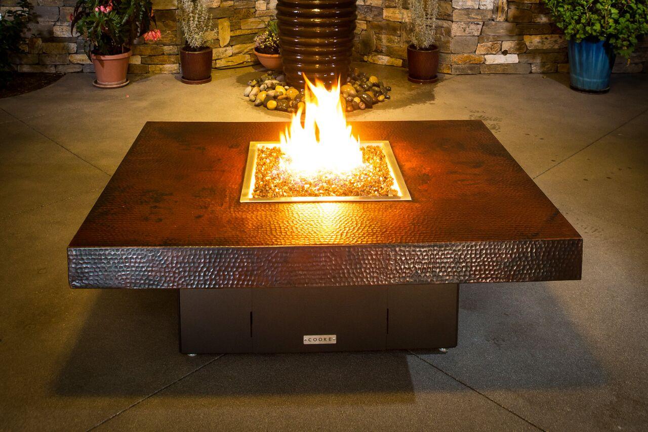 Santa Barbara High End Fire Pit Table Cooke Furniture