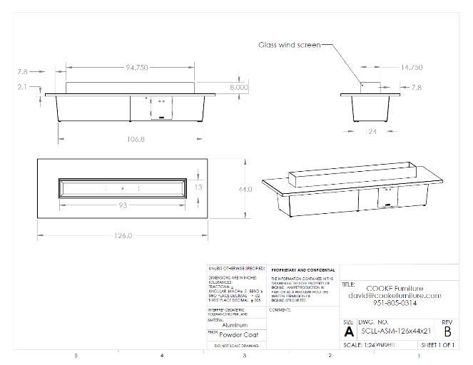 Palisades126x36x21 Product Specification