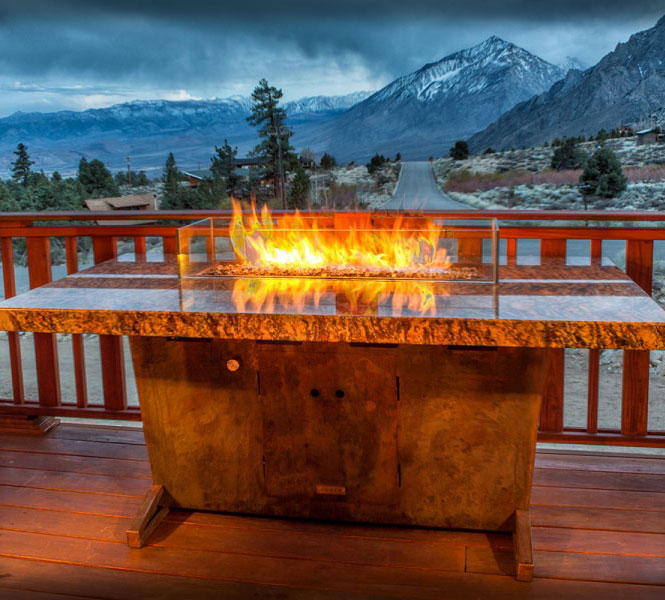 Grand View Fire Pit Table - Rugged, durable, custom USA-made fire pit tables.