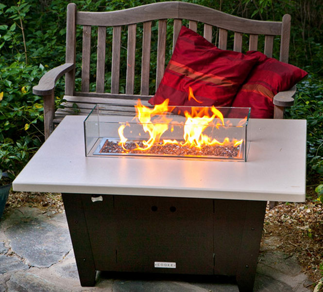 Palisades Fire Pit Table - Custom burner sizes and shapes available for all tables.