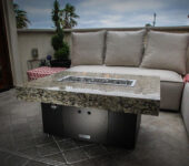 COOKE Santa Barara 40 x 30 Granite Top and Black Base