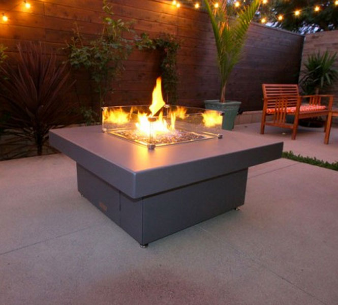 Santa Barbara High End Fire Pit Table Cooke Furniture