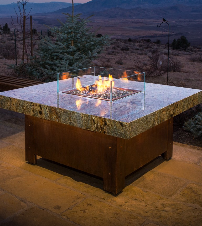 Balboa Stone Top Fire Pit Table | Cooke Furniture