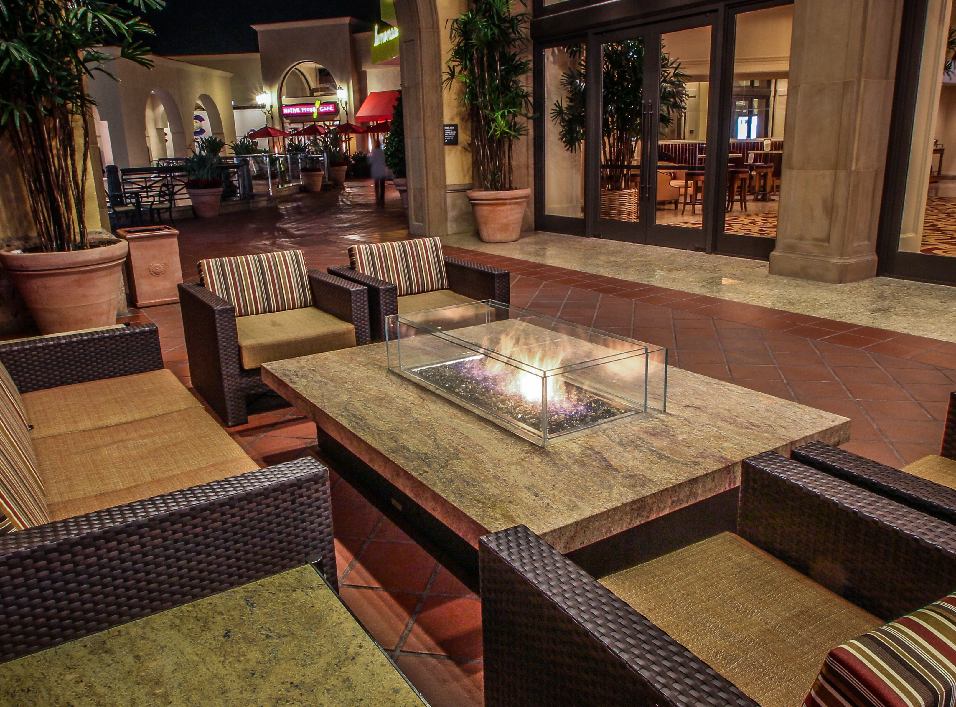 Commercial Residential Montecito Large Fire Pit Table