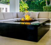 COOKE fire pits are built with precision cut one-piece surfaces.