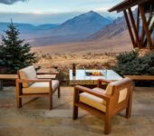 Balboa lounge chair & Balboa fire pit table top