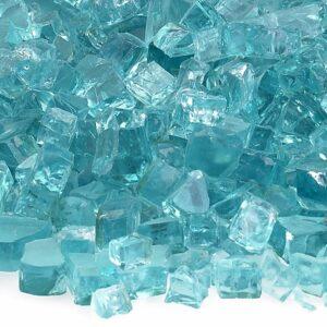 Azuria Blue 1/4' Fireglass