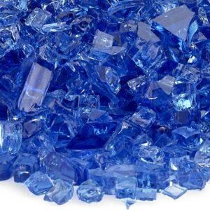 Cobalt Blue 1/4' Fireglass