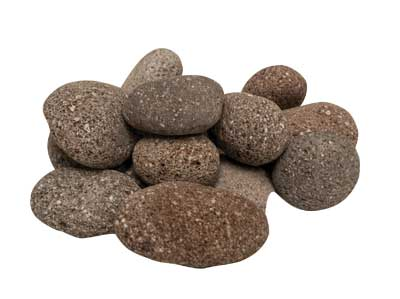 Red Tumbled lava 1-2 inch