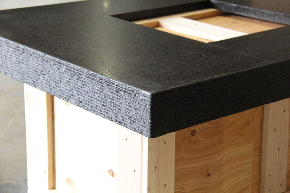 Custom Chiseled Granite Edge