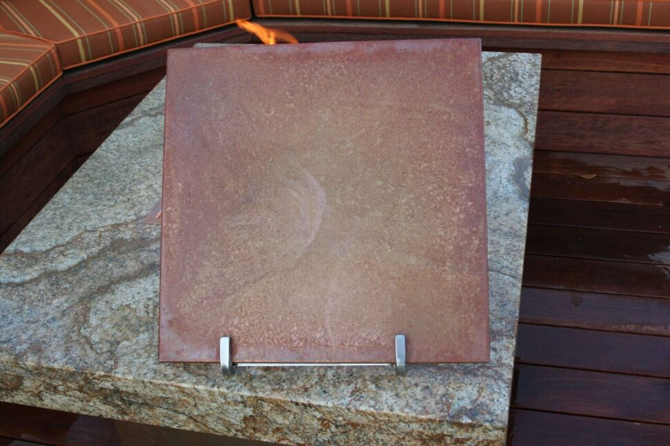 Copper Patina Fire Pit Lid