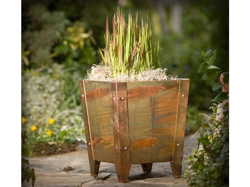 Copper Plated Parisian Planter