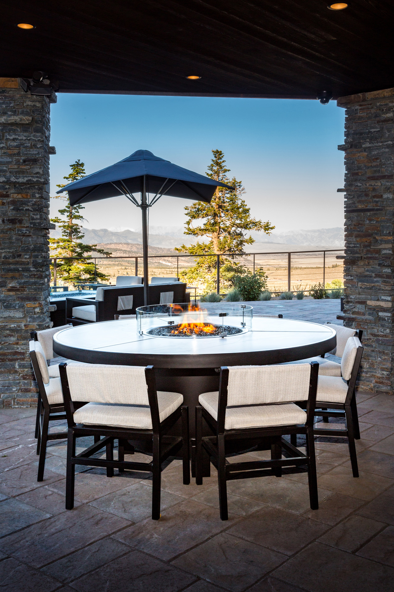 Mammoth Fire Pit Formal Dining Table Cooke Furniture
