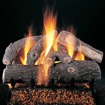 Rasmussen Frosted Oak Vented Gas Log Set