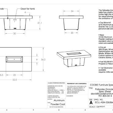 Palisades 52x36 SB - Spec Sheet