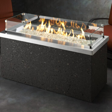 Key Largo Fire Pit with Optional Glass Wind Guards (not included)