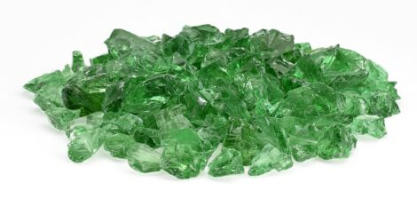 Light Green - Medium Recycled Fire Pit Glass