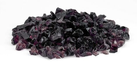 Purple - Medium Fire Pit Glass