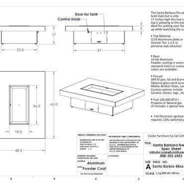 COOKE Santa Barbara 62x48 Spec Sheet