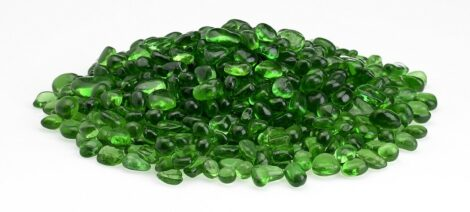 Green Eco Glass Fire Beads
