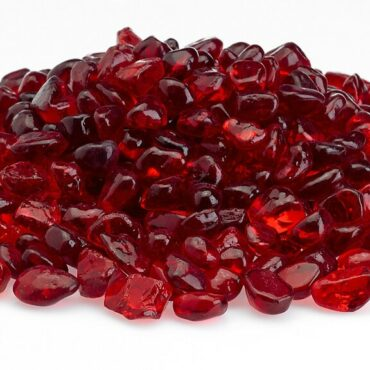 Red Eco Glass Fire Beads