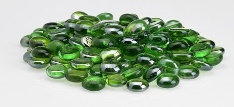 Emerald Luster Glass Beads