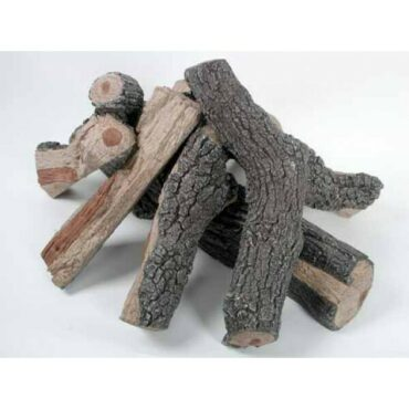 Rasmussen - Fire Pit Bark/Split Logs Set