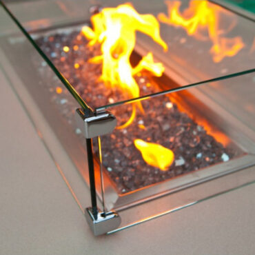 Optional Glass Wind Screen - Close Up