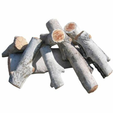White birch fire pit logs