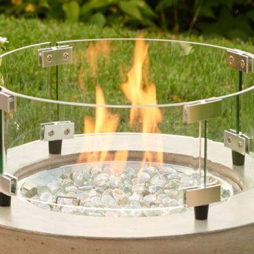 """Outdoor Greatroom Windscreen for 12"""" Round Burner Pan"""