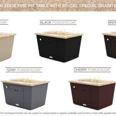 So-Cal Special Granite Top Options