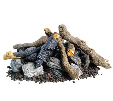 American Fyre Designs Beachwood Logs, Stones