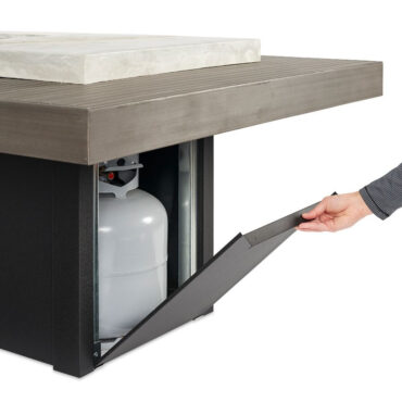 5 Gallon Propane Cylinder Fits Inside Table Base
