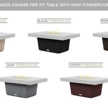 Hilltop Gray Powdercoat Top