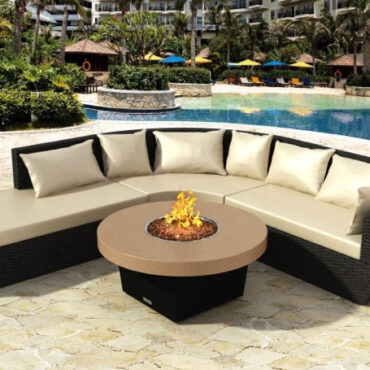 Parkway Circular Fire Pit Table Shown With Optional Seating