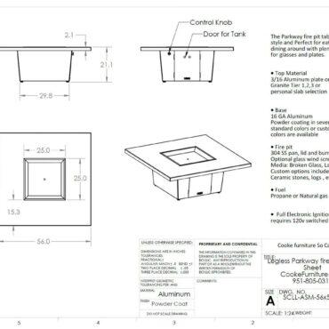 Parkway-56x56 Spec Sheet