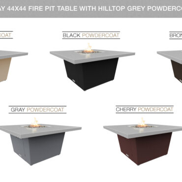 Hilltop Grey Powdercoat Top Color Configurations
