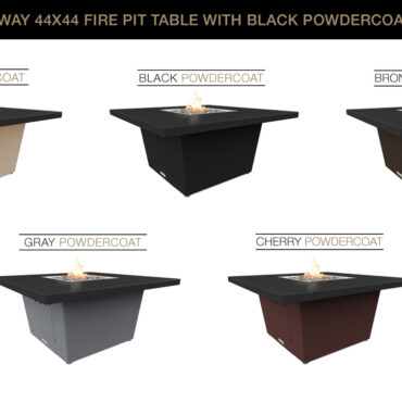Black Powdercoat Top Color Configurations